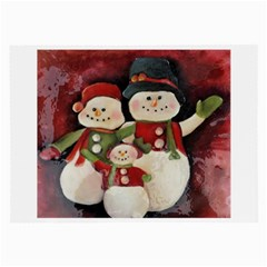 Snowman Family No. 2 Large Glasses Cloth (2-Side)