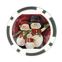 Snowman Family No. 2 Poker Chip Card Guards
