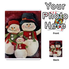 Snowman Family No. 2 Multi-purpose Cards (Rectangle)