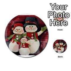 Snowman Family No. 2 Multi-purpose Cards (Round)