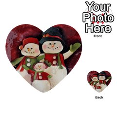 Snowman Family No. 2 Multi-purpose Cards (Heart)