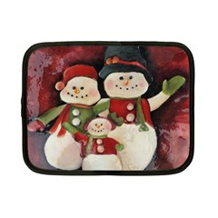 Snowman Family No. 2 Netbook Case (Small)