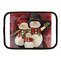 Snowman Family No. 2 Netbook Case (Medium)