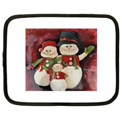 Snowman Family No  2 Netbook Case (large)