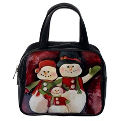 Snowman Family No. 2 Classic Handbags (One Side)