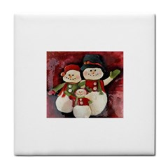 Snowman Family No. 2 Face Towel