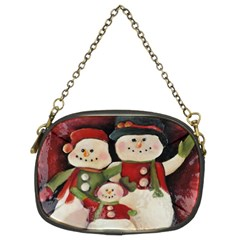Snowman Family No. 2 Chain Purses (Two Sides)