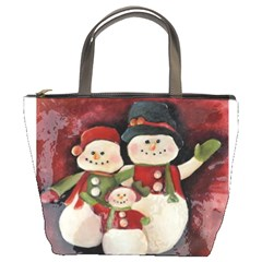 Snowman Family No. 2 Bucket Bags