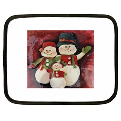 Snowman Family No. 2 Netbook Case (XL)