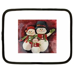 Snowman Family No. 2 Netbook Case (XXL)