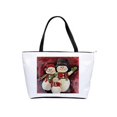 Snowman Family No. 2 Shoulder Handbags