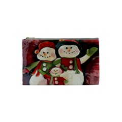 Snowman Family No. 2 Cosmetic Bag (Small)