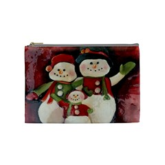 Snowman Family No. 2 Cosmetic Bag (Medium)