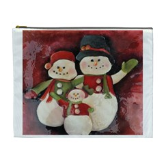 Snowman Family No. 2 Cosmetic Bag (XL)