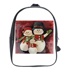 Snowman Family No. 2 School Bags(Large)