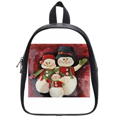 Snowman Family No. 2 School Bags (Small)