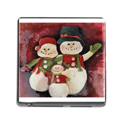 Snowman Family No. 2 Memory Card Reader (Square)