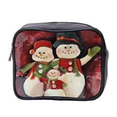 Snowman Family No. 2 Mini Toiletries Bag 2-Side