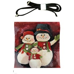 Snowman Family No. 2 Shoulder Sling Bags