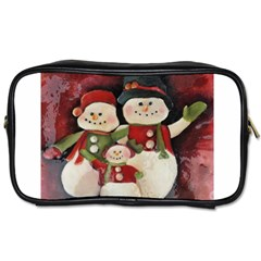Snowman Family No. 2 Toiletries Bags 2-Side