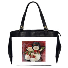 Snowman Family No. 2 Office Handbags (2 Sides)