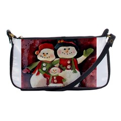 Snowman Family No. 2 Shoulder Clutch Bags