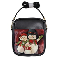 Snowman Family No. 2 Girls Sling Bags