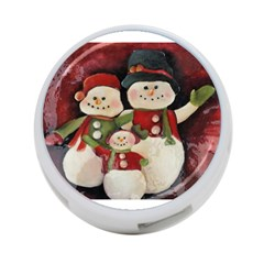 Snowman Family No. 2 4-Port USB Hub (One Side)
