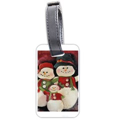 Snowman Family No. 2 Luggage Tags (One Side)