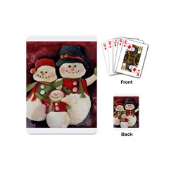Snowman Family No. 2 Playing Cards (Mini)