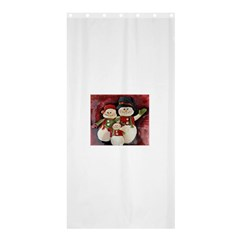 Snowman Family No. 2 Shower Curtain 36  x 72  (Stall)