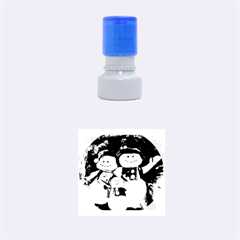 Snowman Family No. 2 Rubber Round Stamps (Small)