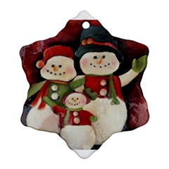Snowman Family No. 2 Ornament (Snowflake)