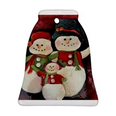Snowman Family No. 2 Bell Ornament (2 Sides)