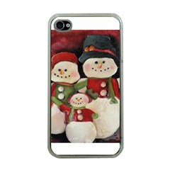 Snowman Family No. 2 Apple iPhone 4 Case (Clear)