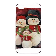 Snowman Family No. 2 Apple iPhone 4/4s Seamless Case (Black)