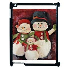 Snowman Family No. 2 Apple iPad 2 Case (Black)