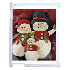 Snowman Family No. 2 Apple iPad 2 Case (White)