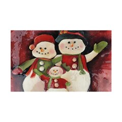 Snowman Family No. 2 YOU ARE INVITED 3D Greeting Card (8x4)