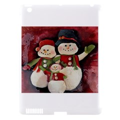 Snowman Family No. 2 Apple iPad 3/4 Hardshell Case (Compatible with Smart Cover)