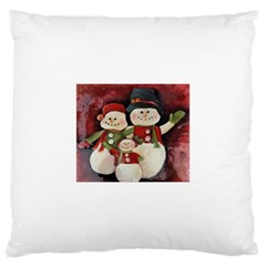Snowman Family No. 2 Large Cushion Cases (Two Sides)