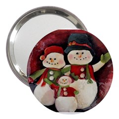 Snowman Family No. 2 3  Handbag Mirrors