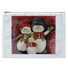 Snowman Family No. 2 Cosmetic Bag (XXL)