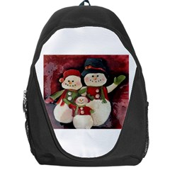 Snowman Family No. 2 Backpack Bag