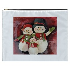 Snowman Family No. 2 Cosmetic Bag (XXXL)