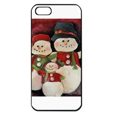 Snowman Family No. 2 Apple iPhone 5 Seamless Case (Black)