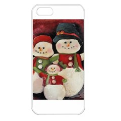 Snowman Family No. 2 Apple iPhone 5 Seamless Case (White)