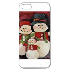 Snowman Family No. 2 Apple Seamless iPhone 5 Case (Clear)