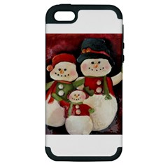 Snowman Family No. 2 Apple iPhone 5 Hardshell Case (PC+Silicone)