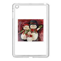 Snowman Family No. 2 Apple iPad Mini Case (White)